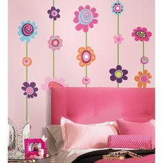 Image result for flower wall stickers