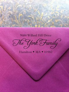 York Address Stamp Great for Housewarming Gifts by StyleMyDay, $25.00