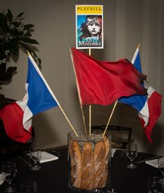 Les Miz Les Miserables Centerpiece Broadway Bat Mitzvah #BatMitzvah Centerpiece for rent