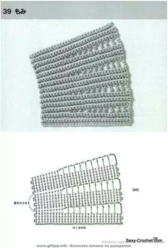 Crochet Edge Stitch - Chart; would make a nice collar too by adding edging to it.