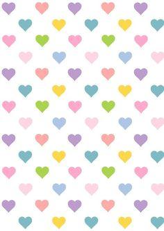 Corazones en colores pastel.