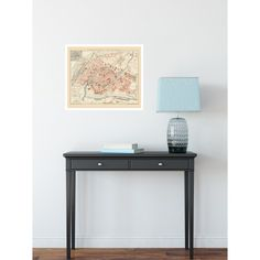 Historical map poster of Strasbourg for Home office wall decor. Authentic map reproduction printed on handmade paper. Living Room Decor Tips, New Living Room, Living Room Interior, Office Wall Decor, Office Walls, Old Wall, Wall Maps, Strasbourg, Antique Maps