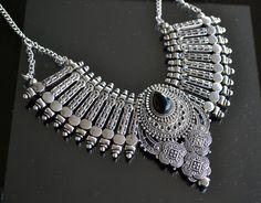 Silver Necklace Chocker Necklace Colar Necklace by LKArtChic
