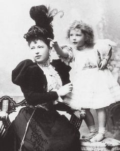 "Princess Sophia Torby with her daughter Anastasia ""Zia"" Mikhailovna"
