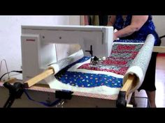 Home Built Machine Quilting Frame – Famous Last Words Diy Quilting Frame For Sewing Machine, Diy Quilting Frame Plans, Quilting Frames, Longarm Quilting, Free Motion Quilting, Nine Patch, Quilting Tutorials, Quilting Designs, Quilting Ideas