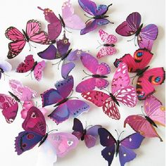15 Colors PVC Butterfly wall sticker home Art Design Wall Decor Bedroom Living room Decorative decal kid room(China) 3d Butterfly Wall Decor, Diy Butterfly, Butterfly Decorations, 3d Butterfly Wall Stickers, Flower Wall, Wall Stickers Animals, Wall Stickers Home Decor, Wall Stickers Murals, Room Stickers