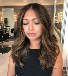 Balayage Blonde Ends - 20 Fabulous Brown Hair with Blonde Highlights Looks to Love - The Trending Hairstyle Bronde Balayage, Brown Hair Balayage, Brown Hair With Highlights, Brown Blonde Hair, Hair Color Balayage, Asian Balayage, Asian Brown Hair, Color Highlights, Chunky Highlights