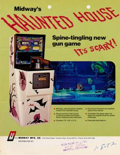 Midway's Haunted House arcade game flyer