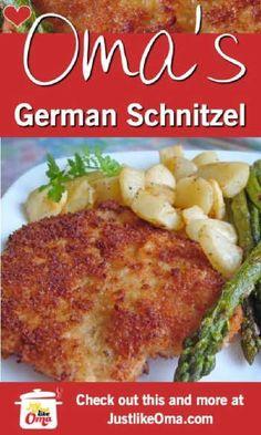 Pork Chop Recipes, Meat Recipes, Chicken Recipes, Cooking Recipes, Pork Shnitzel Recipe, Pork Cutlet Recipes, Entree Recipes, Healthy Chicken, German Cuisine