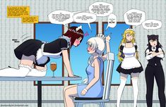 RWBY - Roleplay Gone Wrong [White Rose} by PhantomSkyler on DeviantArt Dc Anime, Rwby Anime, Rwby Fanart, Kawaii Anime, Yuri Anime, Anime Neko, Anime Comics, Rwby White Rose, Rwby Rose