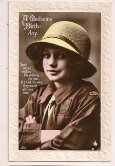 UK vintage Brownie Guide Birthday postcardc.1920s | eBay