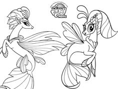 My Little Pony The Movie Coloring Page Queen Novo And Skystar