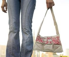 Handbag made from plastic grocery bags......tutorial