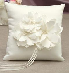 Water Lily Ring Bearer Pillow |Lily Ring Bearer Pillow | Lily Ring Pillow - or change to roses