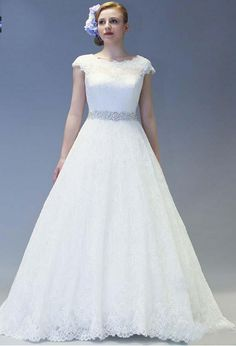 """Milly"" Dress full lace dress with ballgown skirt and optional sparkly belt"