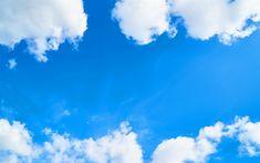 Download imagens céu azul, nuvens brancas, céu, ar