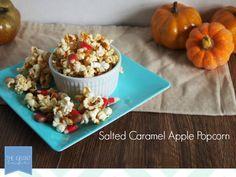 Easy Homemade Recipes: Salted Caramel Apple Popcorn