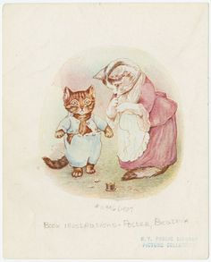 Tom Kitten was very fat. From New York Public Library Digital Collections.