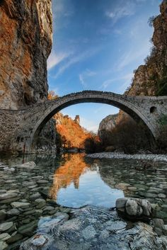 Kokkori bridge, Zagori, Ioannina, Greece