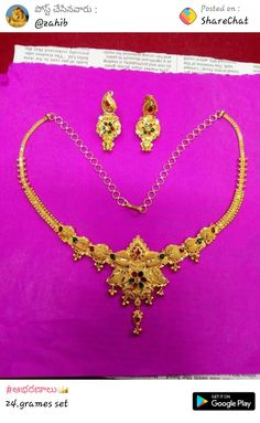 Gold Earrings Designs, Gold Jewellery Design, Necklace Designs, Gold Jewelry Simple, Necklace Set, Gold Necklace, Vanki Ring, Jewelry Shop, Blouse