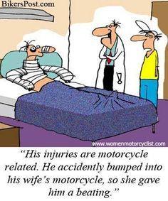 Have a good weekend!  Just stay away from her bike!! Biker Chick, Biker Girl, Biker Baby, Motorcycle Memes, Bike Quotes, Harley Davidson Bikes, My Ride, Bike Life, Motorcycles