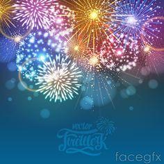 Colour Festival of fireworks vector