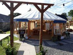 Wedding Yurt at Fron Farm Yurt Retreat. Unusual and unique wedding venue in West Wales.