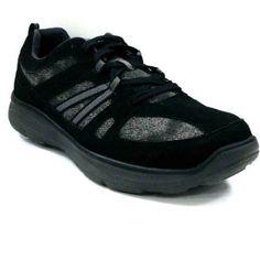 Faded Glory Men's Canvas Oxford Shoe, Size: 11, Black