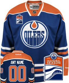 4f7334d70ce Edmonton Oilers NHL Home Reebok Premier Jersey (with Inaugural Season  Patch) CoolHockey
