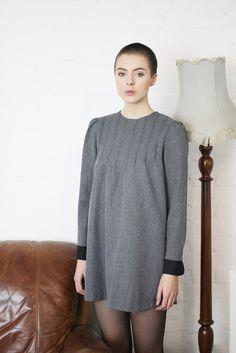 Simple Shift Dress Grey