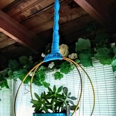 Terrific Pics Modern Macrame Unique Double Brass Hoops Spiral Plant hanger ~~~ other colors available Thoughts If you have small room for the placement of flowerpots, holding flowerpots certainly are a great Opt Macrame Hanging Planter, Hanging Planters, Holding Flowers, All Flowers, Huge Diamond Rings, Modern Macrame, Ceiling Hooks, Make A Person, Plant Hanger