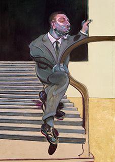 Francis Bacon, Portrait of a Man Walking Down Steps, 1972