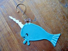 Narwhal Mini Glass Art by PurpleCloudStudio on Etsy, $17.00