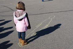 Tracing shadows to mark time.