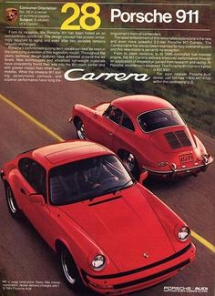 Old Porsche ads... repinned by #carpoos