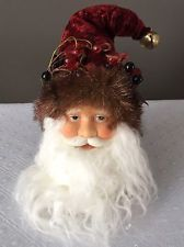 BNWT COLLECTIBLE Kurt Adler Christmas HOLIDAY Porcelain Face Santa Head ORNAMENT