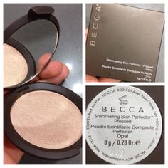 Becca Highlighter in Opal. My new favorite highlighter!!! Great dupe for MAC whisper of Guilt