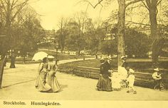 Humlegården, Stockholm, tidigt 1900-/sent 1800-tal