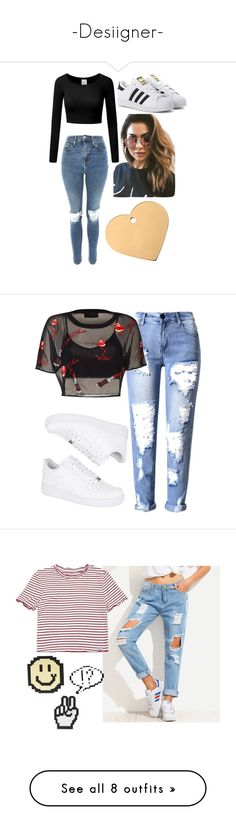 """""""-Desiigner-"""" by abita-patatas ❤ liked on Polyvore featuring Topshop, adidas Originals, MINKPINK, NIKE, Page D, Gianvito Rossi, Nine West, Chicwish, adidas and MANGO"""