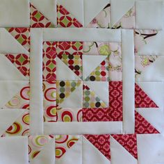 She requested pinwheels. I choose Hanies pinwheel. haniesquilts.blogspot.com/2010/01/sampler-blocks-and-tuto...