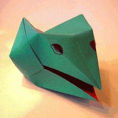DIY Origami : DIY Origami Dragon Head Instructions
