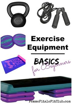 Exercise Equipment Basics for Beginners - in this post I share all of the essential exercise equipment to get you started with a fitness routine. I personally own and use all of the equipment and tools explained in this article. Home Gym Equipment, No Equipment Workout, Workout Gear, House Workout, You Fitness, Fitness Goals, Fitness Tips, Exercise Fitness, Exercise Routines
