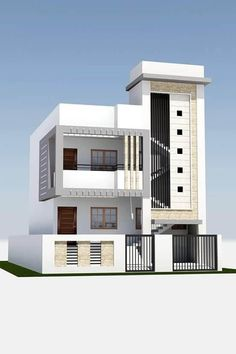 Small home design with all. House elevation grill design house portico grill design interior two floors house front elevation designs house. House Front Wall Design, Single Floor House Design, House Outside Design, Small House Design, 2bhk House Plan, Model House Plan, Story House, 2 Storey House Design, Bungalow House Design