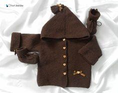 Paletot et chaussons bébé, tricoté main