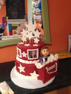 My daughter's American Girl Doll birthday cake made by Taylored Cakes, Smiths Grove, KY.