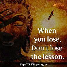 Don't lose the lesson.