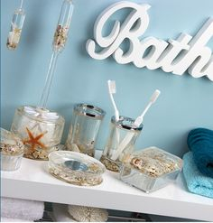 chic bathroom ornaments - Teal Bathroom Accessories Uk
