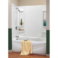 Peerless 36980 White Seamless Bathtub Wall Set - Walmart.com ...