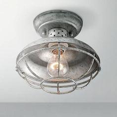 "Franklin Park 8 1/2"" Wide Galvanized Outdoor Ceiling Light"