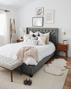Romantic Bedroom Decor Ideas to Make Your Home More Stylish on a Budget - The Trending House Home Decor Bedroom, Modern Bedroom, Contemporary Bedroom, Rustic Bedroom, Luxurious Bedrooms, Bedroom Layouts, Bedroom Carpet, Home Decor, Small Bedroom